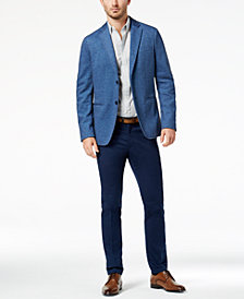 Michael Kors Men's Knit Blazer & Slim-Fit Printed Shirt Separates