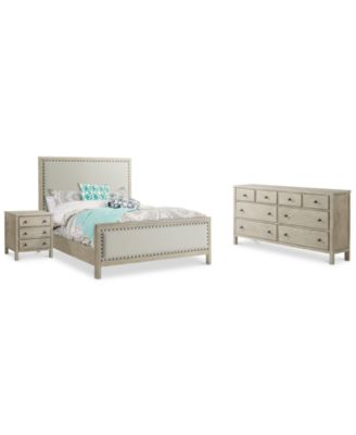 Parker Upholstered Bedroom Furniture, 3 Pc. Set (King Bed, Dresser U0026