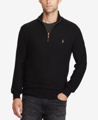 polo ralph lauren wool jacket ralph lauren half zip grey