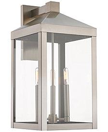 Livex Nyack 3-Light Outdoor Wall Lantern