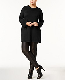 Plus Size Ribbed Tunic Sweater, Created for Macy's