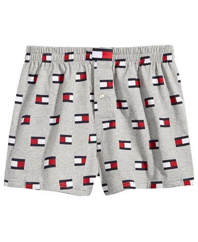 Tommy Hilfiger Men's Modern Essentials Logo-Print Knit Cotton Boxers