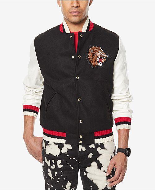 9cc86fab6 ... Sean John Men's Tiger Patch Varsity Jacket, Created for Macy's ...