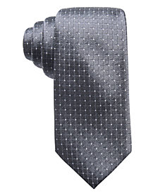 Ryan Seacrest Distinction™ Men's Victor Dot Grid Slim Silk Tie, Created for Macy's