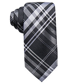 Ryan Seacrest Distinction™ Men's Turn Plaid Slim Silk Tie, Created for Macy's
