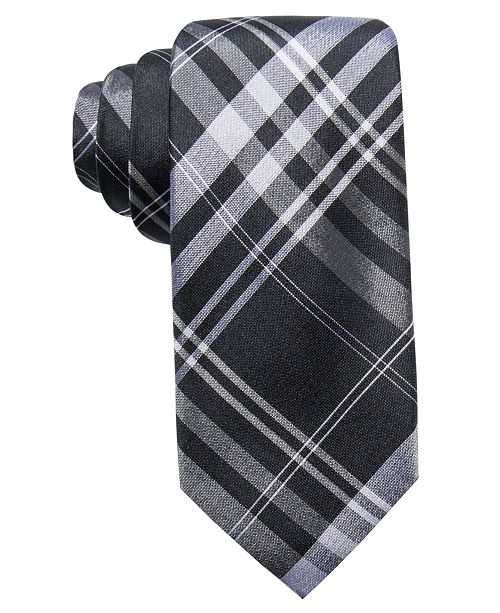 c3cdf39c0189 Ryan Seacrest Distinction Men's Turn Plaid Slim Silk Tie, Created ...
