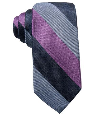 Ryan Seacrest Distinction™ Men's Trainor Bar Stripe Slim Silk Tie, Created for Macy's