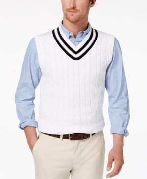 1930s Men's Clothing Mens Cricket Sweater Vest Created for Macys $36.99 AT vintagedancer.com