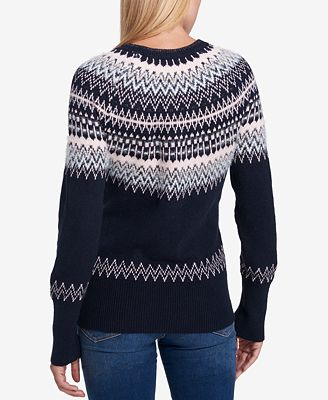 Tommy Hilfiger Fair Isle Sequin-Embellished Sweater, Created for ...