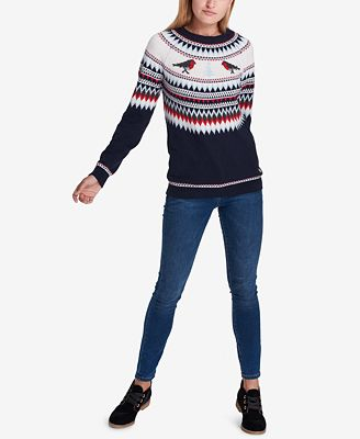 Tommy Hilfiger Fair Isle Sweater, Created for Macy's - Sweaters ...