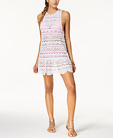Miken Juniors'  Crochet Racerback Drop-Waist Dress Cover-Up, Created for Macy's