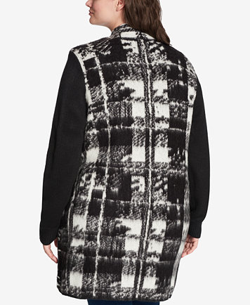 Tommy Hilfiger Plus Size Plaid Sweater Vest, Created for Macy's ...