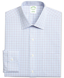 Brooks Brothers Men's Extra Slim-Fit Non-Iron Broadcloth Check Dress Shirt
