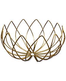Thirstystone Gold-Finish Lotus-Shaped Wire Bowl