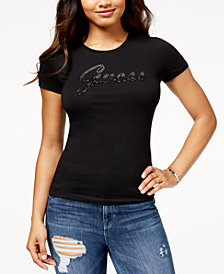 GUESS Embellished Logo T-Shirt