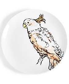 CLOSEOUT! The Cellar Tropicalia Cockatoo Salad Plate, Created for Macy's