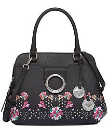 Calvin Klein Floral Small Top Handle Satchel