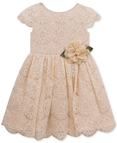Rare Editions Sequin Lace Dress Little Girls Dresses