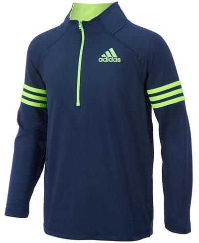 adidas Quarter-Zip Pullover Jacket, Toddler Boys