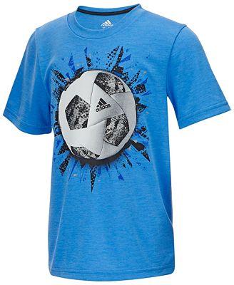 adidas Soccer-Print T-Shirt, Little Boys - Shirts & Tees - Kids ...