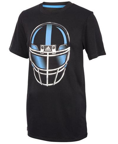 adidas Helmet-Print T-Shirt, Little Boys
