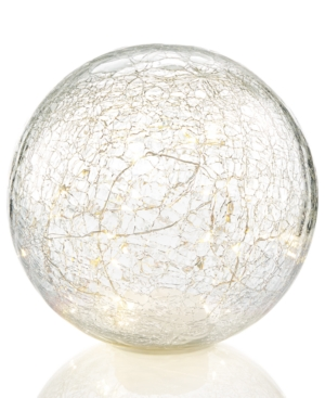 Holiday Lane 20cm LightUp Led Glass Sphere Created for Macys