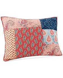 Grace Cotton Patchwork Printed Quilted Standard Sham