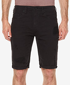 Buffalo David Bitton Men's Parker Slim-Fit Destroyed Denim Shorts