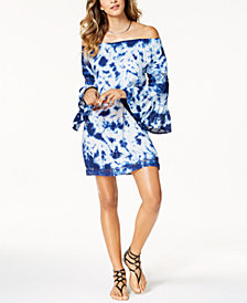 Raviya Tie-Dyed Off-The-Shoulder Dress Cover-Up