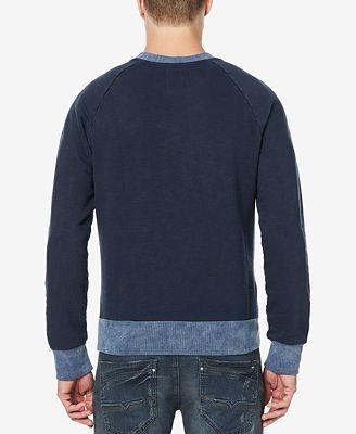 Buffalo David Bitton Men's Raglan Colorblocked Sweater - Hoodies ...