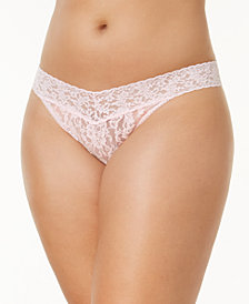 Hanky Panky Signature Lace Plus Size Original Rise Thong 4811X