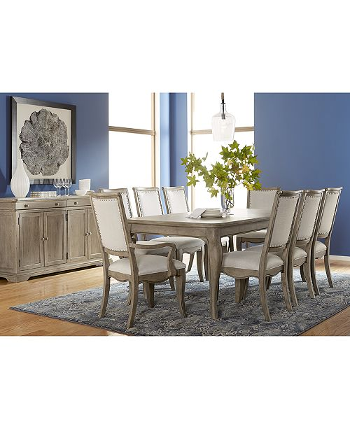 Furniture Martha Bergen Expandable Dining Collection Created For Macy S