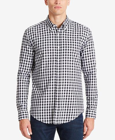 BOSS Men's Slim-Fit Gingham Cotton Shirt