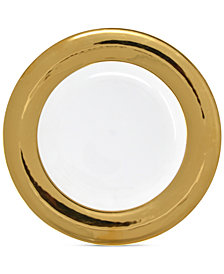 Darbie Angell Monaco Gold Dinner Plate