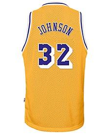 Magic Johnson Los Angeles Lakers Retired Player Swingman Jersey, Big Boys (8-20)