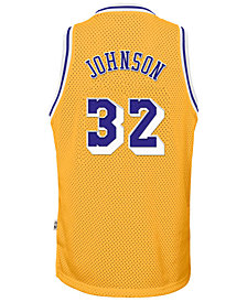 adidas Magic Johnson Los Angeles Lakers Retired Player Swingman Jersey, Big Boys (8-20)