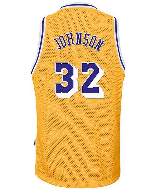 d0638da41 ... adidas Magic Johnson Los Angeles Lakers Retired Player Swingman Jersey