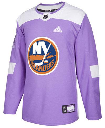 adidas Men's New York Islanders Authentic Hockey Fights Cancer Jersey