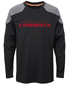 Outerstuff Louisville Cardinals Gamma Long Sleeve T-Shirt, Big Boys (8-20)