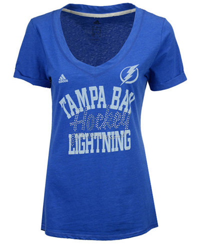adidas Women's Tampa Bay Lightning Hockey Shine T-Shirt