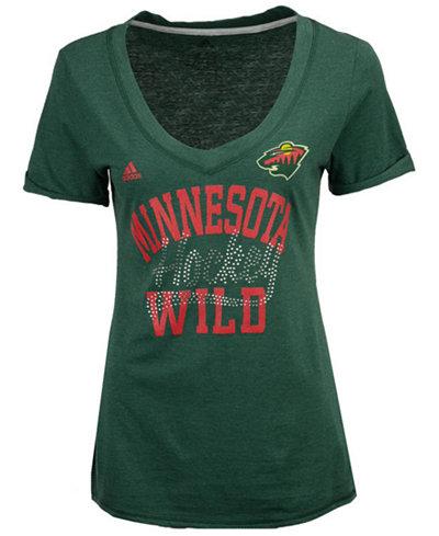 adidas Women's Minnesota Wild Hockey Shine T-Shirt