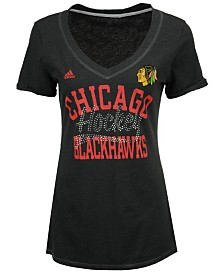 adidas Women's Chicago Blackhawks Hockey Shine T-Shirt