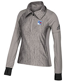 adidas Women's New York Rangers Funnel Pullover Jacket