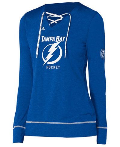 adidas Women's Tampa Bay Lightning Hockey Stitch Long Sleeve Shirt
