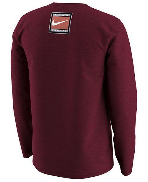 34043b271340 Nike Men s Oklahoma Sooners Retro Long Sleeve T-Shirt   Reviews ...