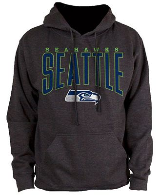 Authentic NFL Apparel Men's Seattle Seahawks Defensive Line Hoodie