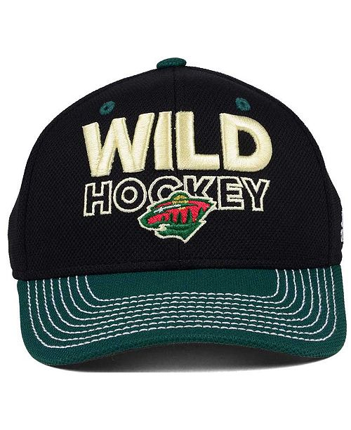5b43aa4f7 ... nhl basic 59fifty cap fe730 def94; discount adidas minnesota wild  locker room structured flex cap sports fan shop by lids men macys