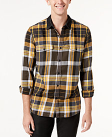 GUESS Men's Brushed Plaid Shirt