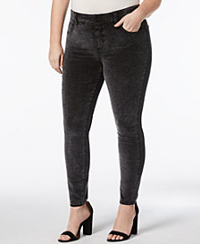 Lucky Brand Trendy Plus Size Emma Velvet Leggings