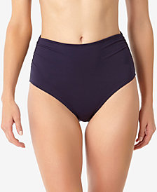 Anne Cole Live In Color High-Waist Bikini Bottoms, Created for Macy's